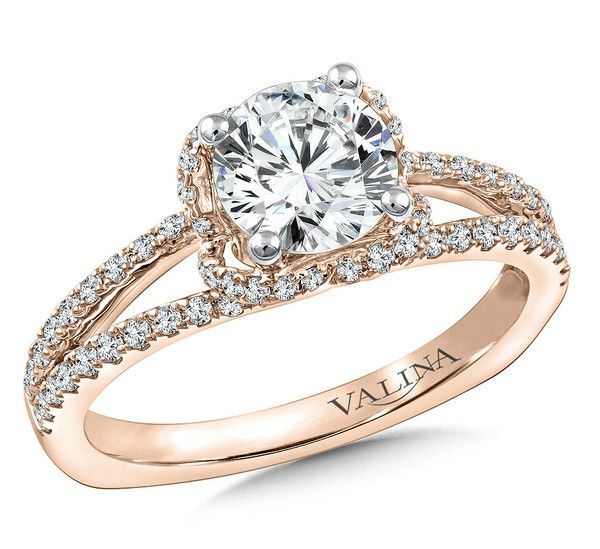 Diamond Exchange Dallas Offers Split Shank Rose Gold Engagement Rings In Tx Contact