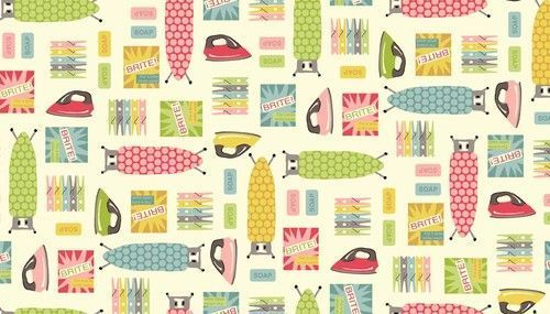 Laundry Room Fabric In 2020 Vintage Laundry Room Retro Laundry Room Retro Fabric