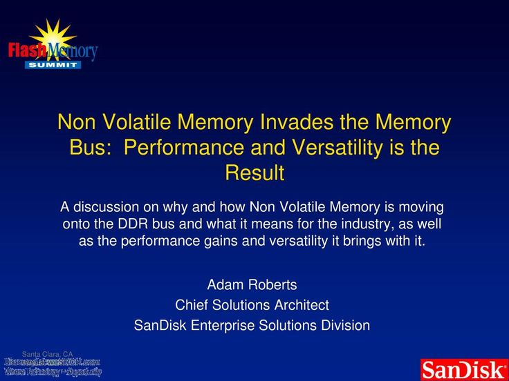 #Non-Volatile Memory Invades the #Memory Bus