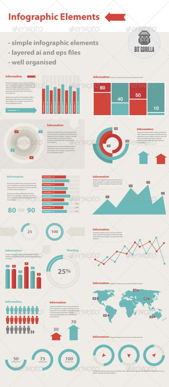 Infographic elements set 4 10 Useful Infographic Elements Sets
