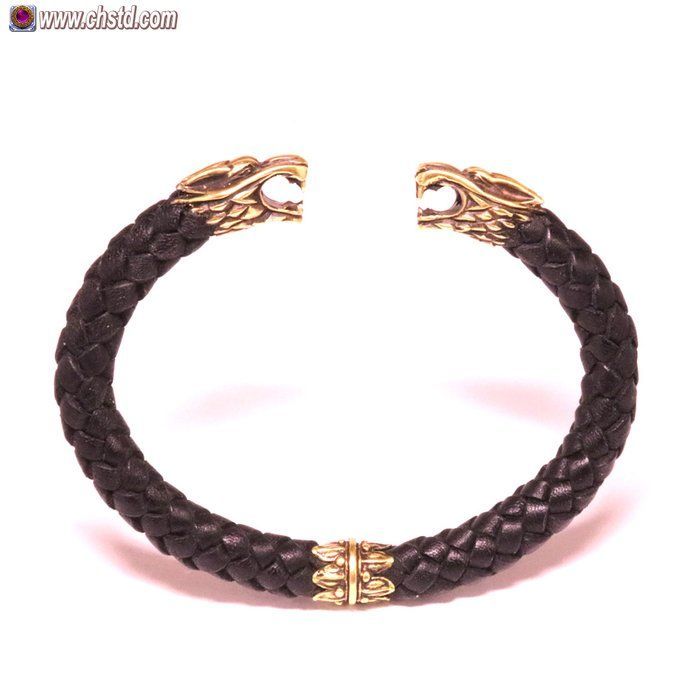 Leather Bracelet / Wolfs / Black ...Great quality and craftwork! You can place orde in our store www.chstd.com. We ship world wide.