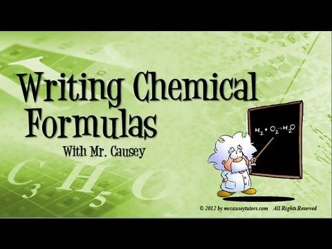 Chemistry - How to Write Ionic and Molecular Covalent Chemical Formulas