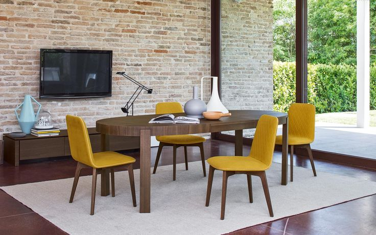 Tavoli allungabili ovali Atelier, realizzati in legno - Calligaris CS/398-E