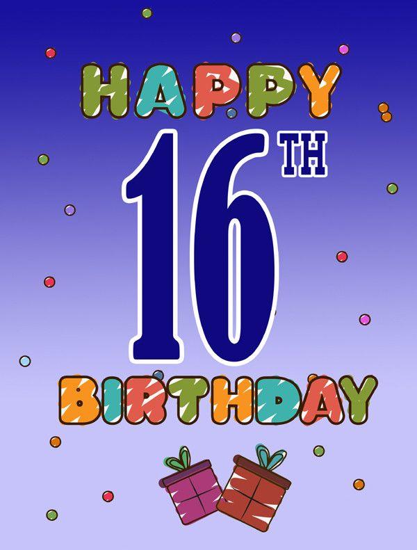 Happy 16th Birthday 2-Sided Garden Flag