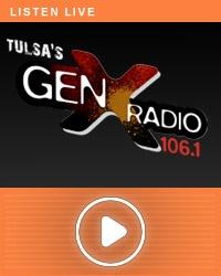106.1 - Tulsa's GenX Radio - found this on my I Heart Radio app on my phone.  Love it!!!!