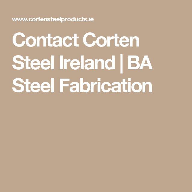 Contact Corten Steel Ireland | BA Steel Fabrication