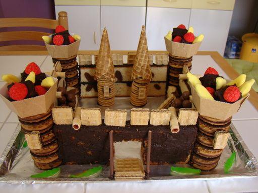 Recette Gâteau d anniversaire château fort
