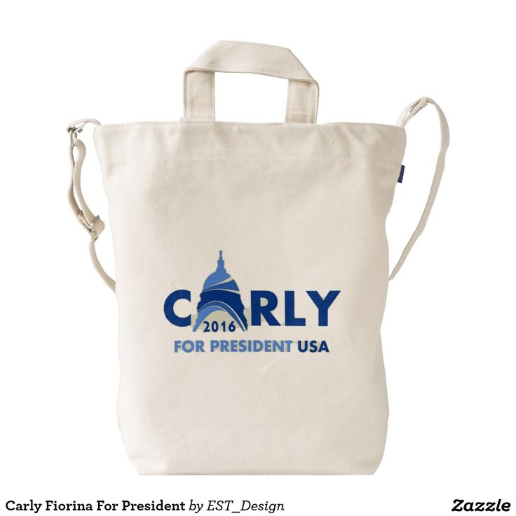 Carly Fiorina For President Duck Canvas Bag