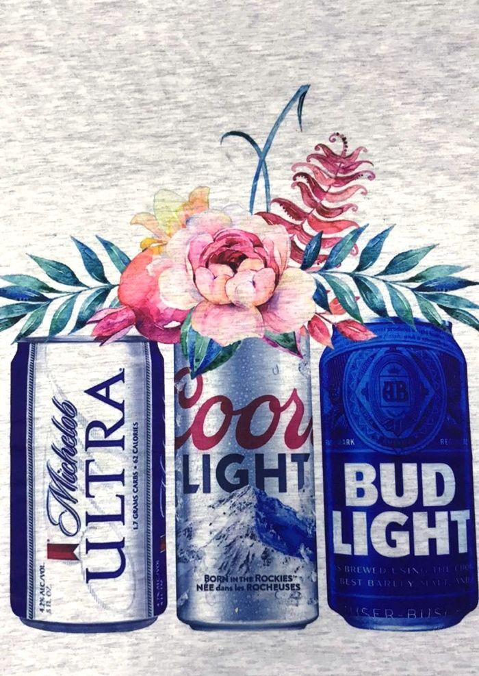 Coors Light Bud Light Michelob Ultra Beer T Shirt Bellelily Waterslide Decal Paper Cricut Projects Vinyl Cricut Crafts