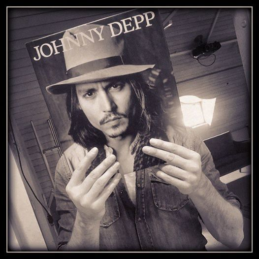 Johnny Depp Book Face
