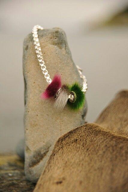 The Republic bracelet.  Multi colored sealskin charm beads