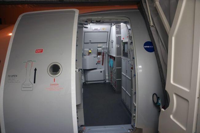Boarding L1 Door American S A321 Inaugural Flight 2014