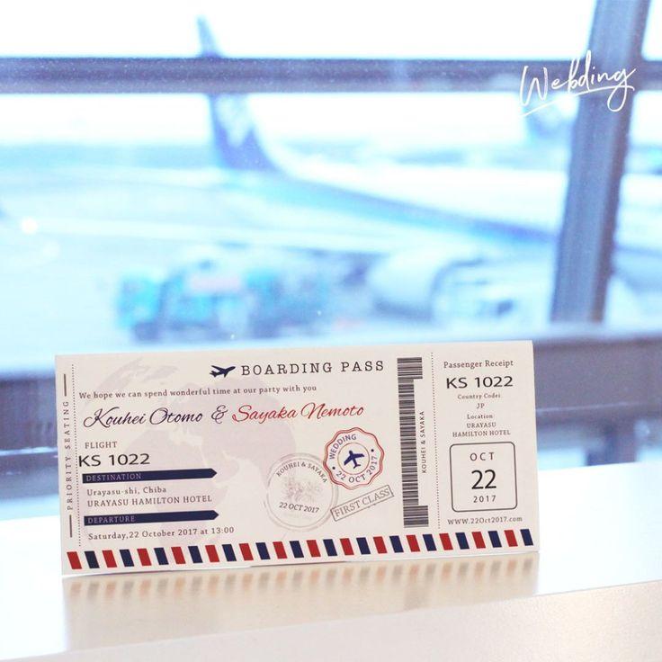 いいね!194件、コメント2件 ― 結婚式 招待状のウェブディング | WEBDINGさん(@webding_paper)のInstagramアカウント: 「結婚式 招待状「エアチケット」 【#WEBDING|#ウェブディング】旅経つ二人の愛の航空チケット!世界に飛び立つ二人にふさわしい招待状です!!! 撮影場所:羽田空港 by…」