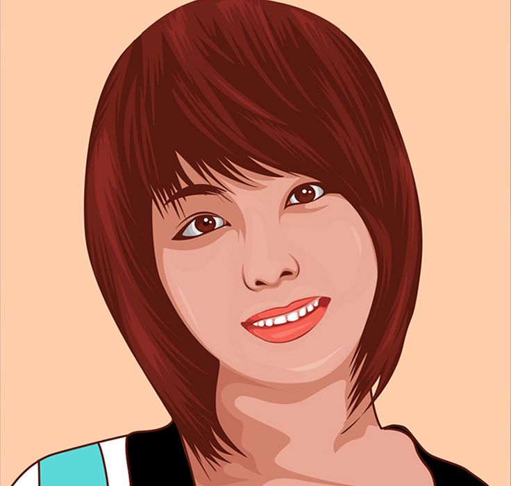 Today we will learn again. How to create a vector portrait in illustrator CC. Before we are start drawing  lock the layer  model and add a new layer to start drawing. Here I also have set up skin color.