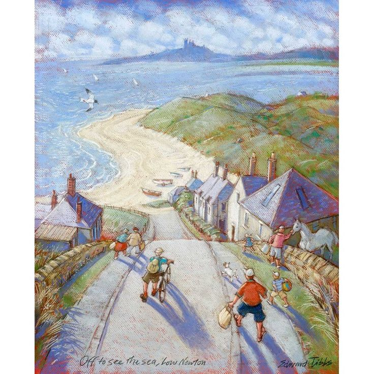 Off to See the Sea - Low Newton signed limited edition print by Edward Tibbs