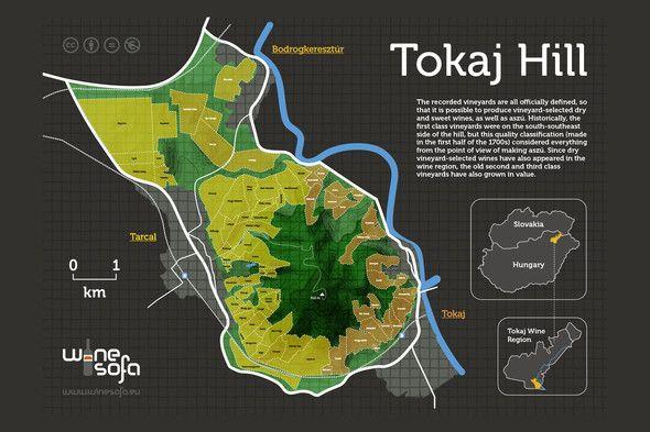 Tokaj Hill infoposter - Triangle of Tokaj, Tarcal and Bodrogkeresztúr