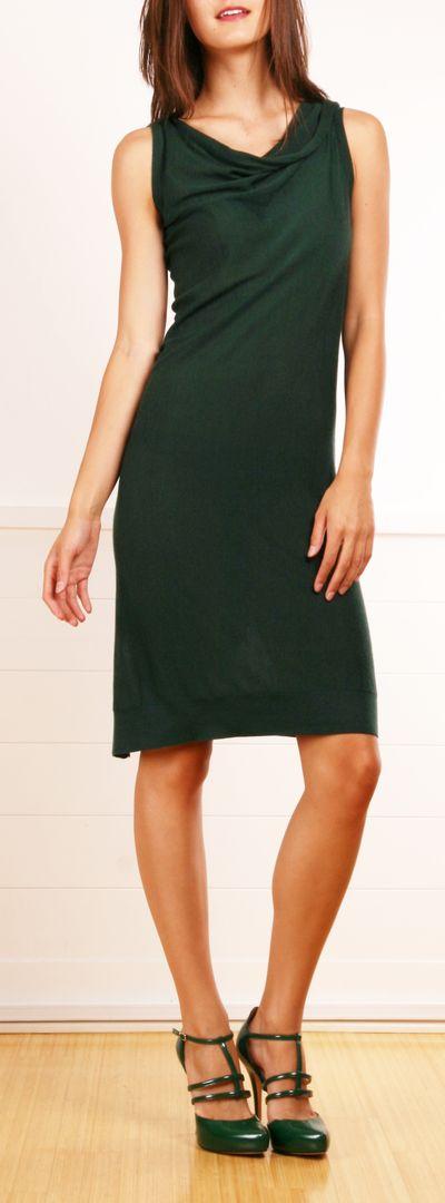 Dark emerald green Fendi dress