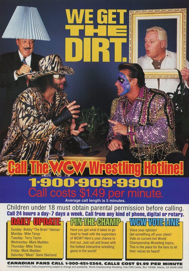 "WCW WorldWide on Twitter: ""WCW Hotline Advert [February 1997]"""