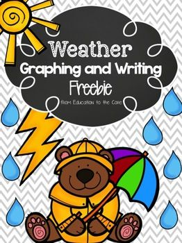 Free Weather Graphing and Activities  Collect weather data all year and graph weather conditions with your students.  Can be done independently or as a whole class.    Graph includes the following weather conditions:   Cloudy Partly Cloudy Rainy Snowy Sunny  Also included is a reflection page on each of the weather conditions.