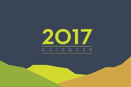Free Flat 2017 Calendar Template.