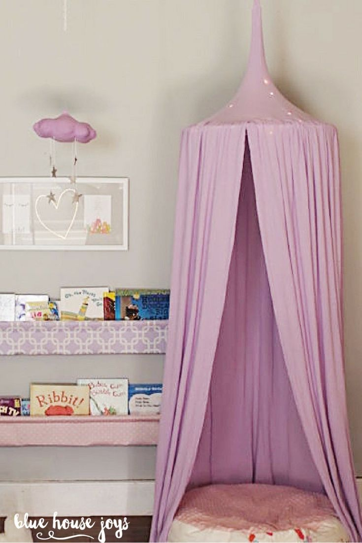 Kids playroom canopy - A Fun And Whimsical Lavender Play Tent For Your Child To Climb Into And Dream About