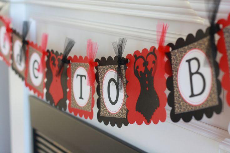 red and black lingerie decorations | Red Brown & Black Leopard Print Lingerie Bridal Shower Bachelorette ...
