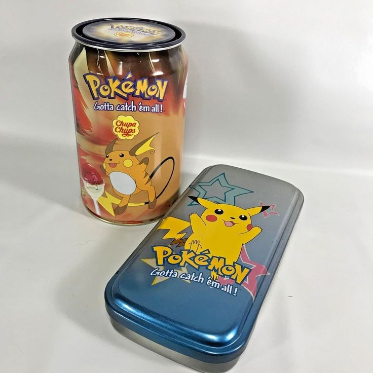 Pokemon Electric Type Tins Rare Chupa Chups Empty Pikachu Tin Case Empty Set 2