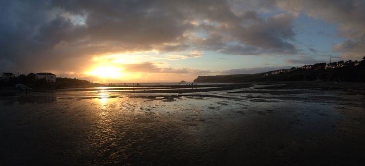 Cornwall, Polzeath  #beautiful #sunset