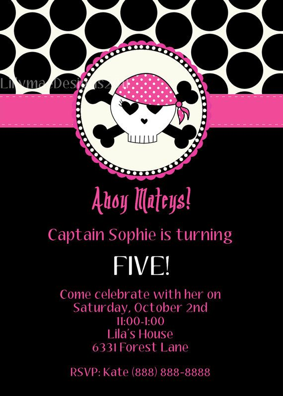 74 best pirate princess party images on pinterest pirate party pirate princess birthday party invitation by lillymaedesigns 1300 filmwisefo Choice Image