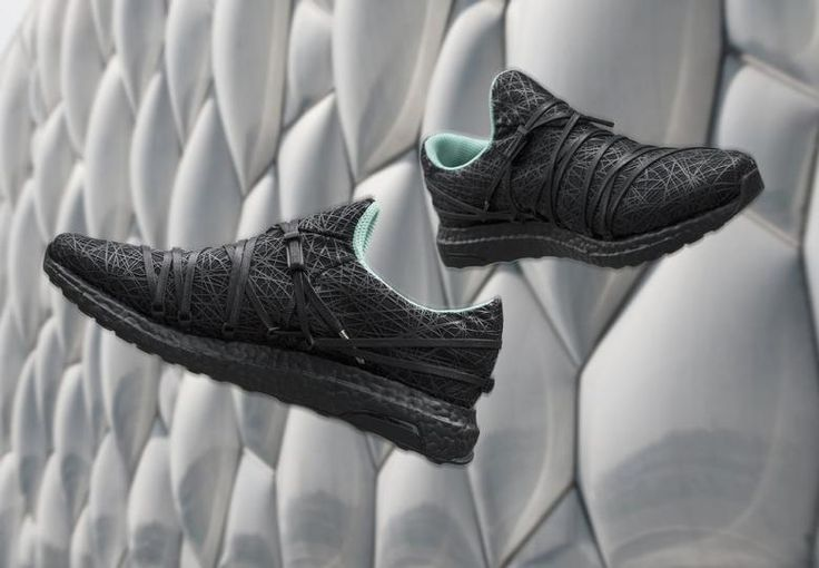 A Shoe Inspired by the Beijing Olympics – Architecturally trained designer Nathan Kiatkulpiboone (aka KXIV) has designed the Nest Adidas Ultraboost with a nod to Herzog & de Meuron's Bird's Nest and PTW Architect's Watercube, two of the main venues for the 2008 Olympics. (Photo: © KXIV)