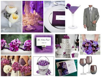 Purple Silver Wedding Colors