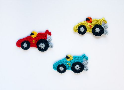 Ravelry: Racing Car Applique pattern by Carolina Guzman