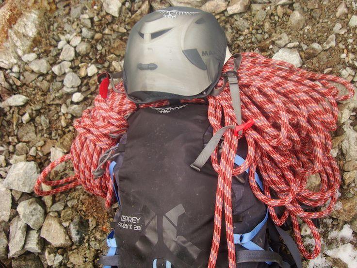 Testbericht #Kletterruckack Osprey Mutant 28 - gut geeignet beim Klettern & bei sommerlichen Touren am Fels #Kletterausrüstung