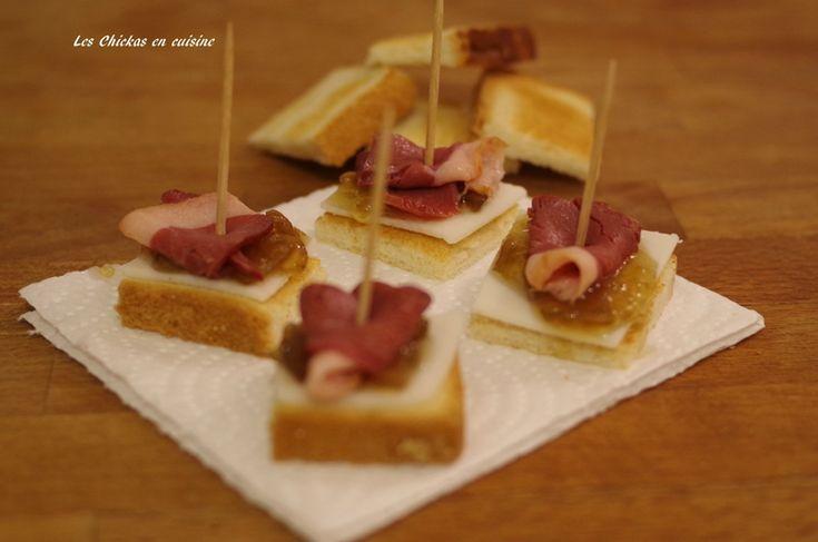 Toast chèvre, confirture oignon et magret de canard fumé (5)