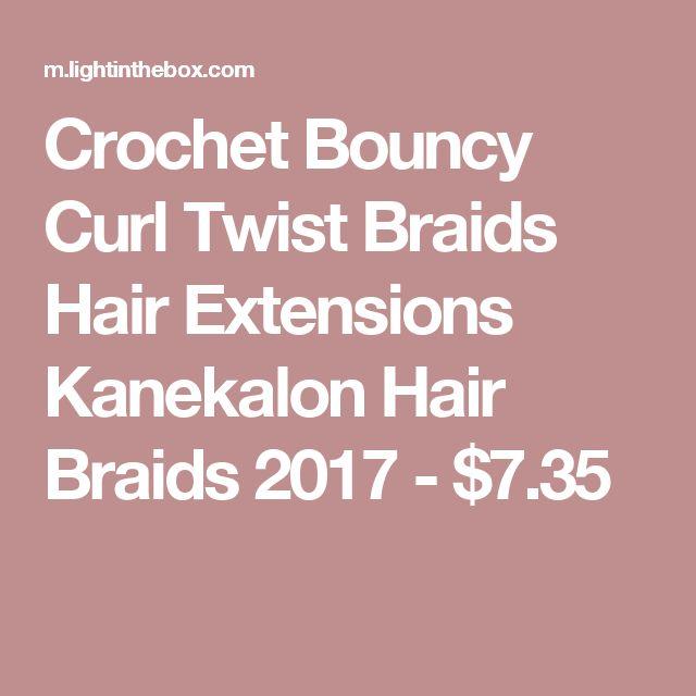 Crochet Bouncy Curl Twist Braids Hair Extensions Kanekalon Hair Braids 2017 - $7.35