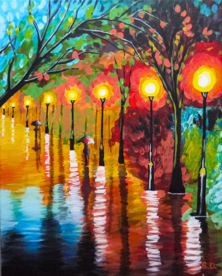 Rain Stroll - original by Cocktails 'n Canvas local artist ...