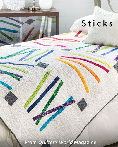 Sticks from the Spring 2014 issue of Quilter's World Magazine. Order a digital copy here: http://www.anniescatalog.com/detail.html?code=VM08181