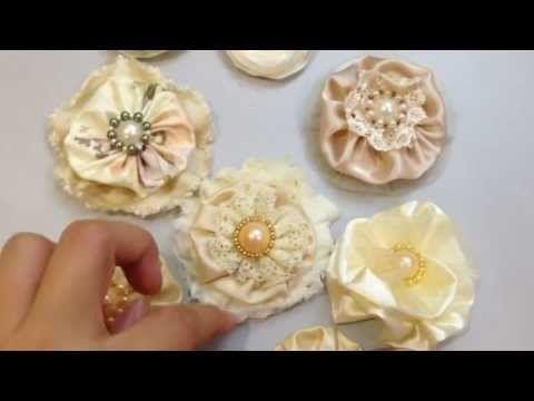 ▶ Handmade Fabric Flowers for Scrapbooking - Elegant & Shabby Chic - YouTubehttps://www.youtube.com/watch?v=ckl-u_QABUE