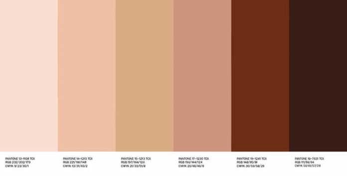 Pin De Tamara Nesic En Nursery Color Palettes Colores De Piel Tonos De Piel Paleta De Color
