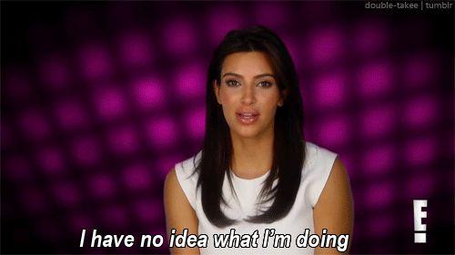 kim kardashian no idea what i'm doing confused makeup gif