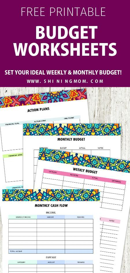 FREE Printable Budget Planner 2019 30+ Budget Templates! Money