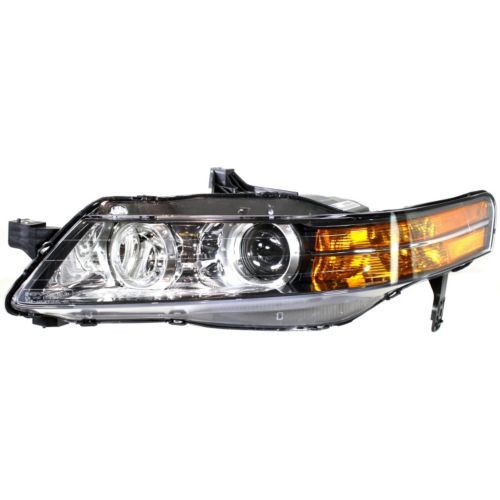 2007-2008 Acura TL Head Light LH, Lens And Housing, Base