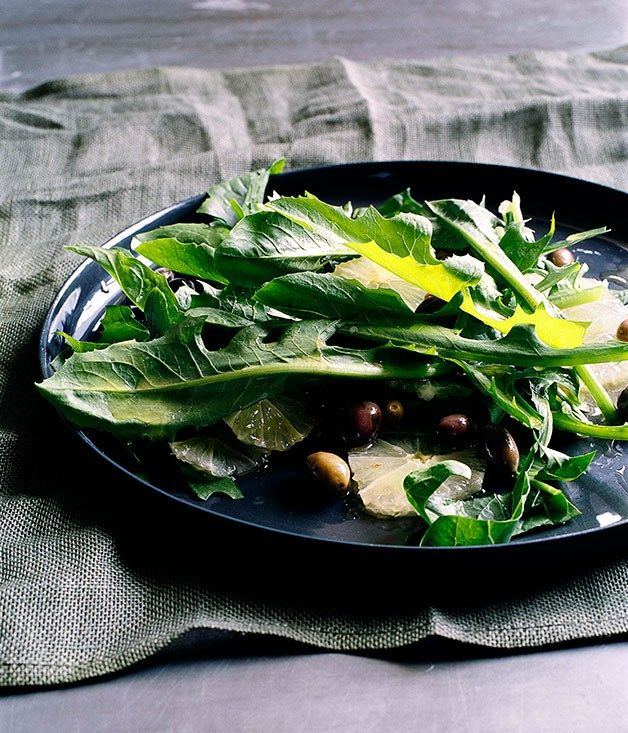 Chicory with lemon and wild olives :: Gourmet Traveller