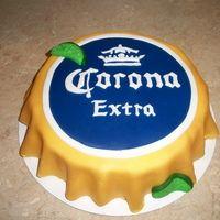 Corona+Beer+Birthday+Decoration | Budweiser Bottle Cap Cake Bottle cap cake cake ideas and