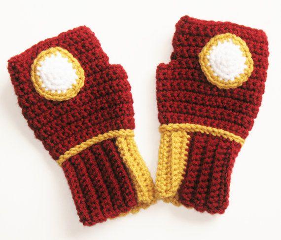 Original Iron Man Power Wristwarmers Fingerless by Xasper8ing