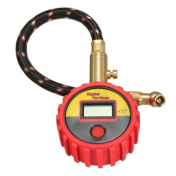 0-99psi Bar Kpa Digital Tire Gauge Type Pressure Gauge Motorcycle Car. 0-99psi Bar Kpa Digital Tire Gauge Type Pressure Gauge Motorcycle Car  	  	description:  	auto Off  	anti Shock Tyre Pressure Monitor With Digital Lcd Display.  	selectable Pressure Ratings(psi / Bar / Kpa / Kgf / C?)  	rotating Nozzle  	pressure Release Button  	anti-shock Case Protector  	  	specification:  	type: Instruments & Gauges  	manufacturer: All Manufacturers  	sub-type: Tyre Pressure Gauge  	intended Use…