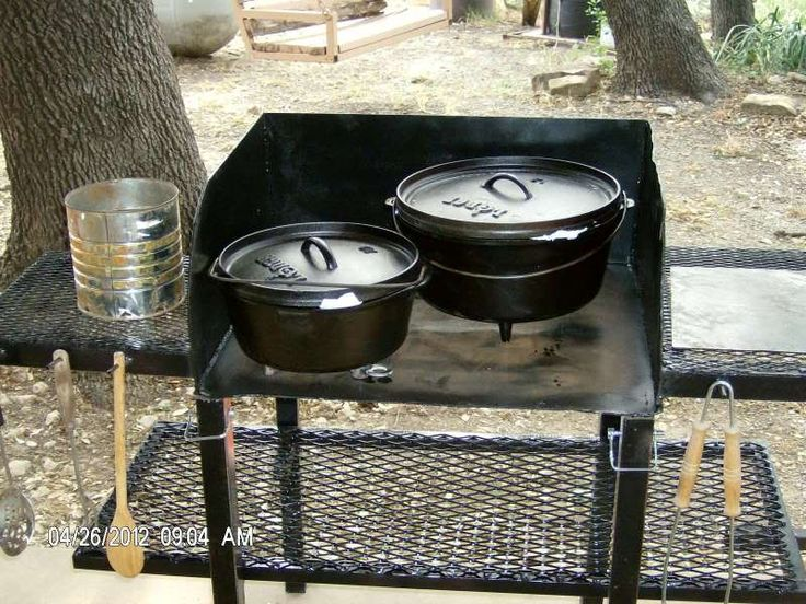 Dutch Oven Cooking Table Plans Dutch Oven Cooking Table