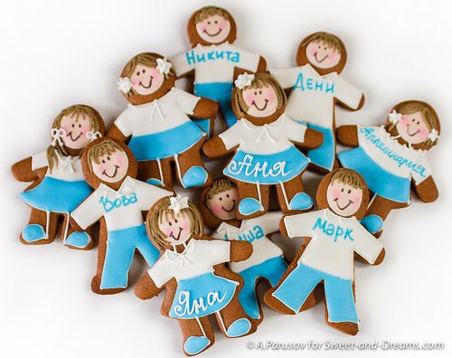 Gingerbread children. Handmade cookies at Sweet-and-Dreams.com.