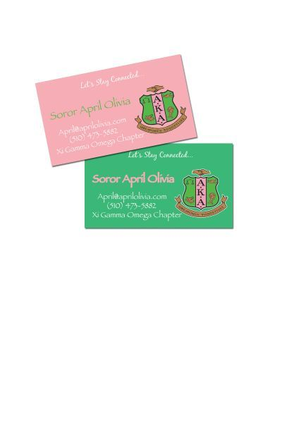 Alpha Kappa Alpha Contact Cards Pretty Pearls Incorporated