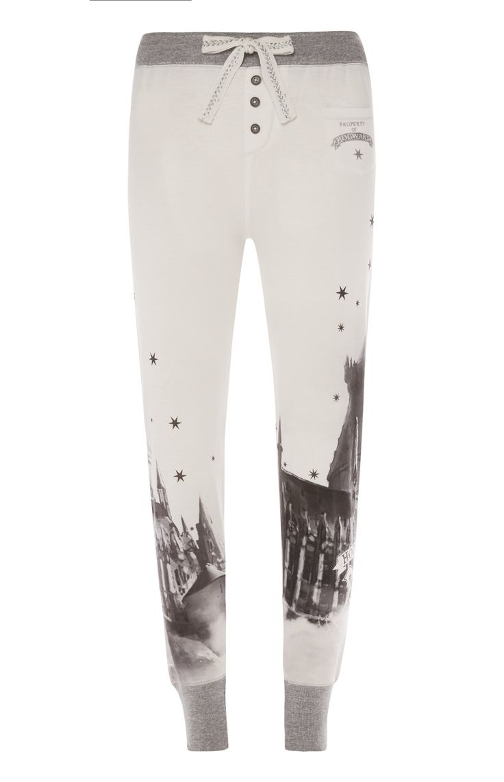 Primark - White Hogwarts Harry Potter Leggings